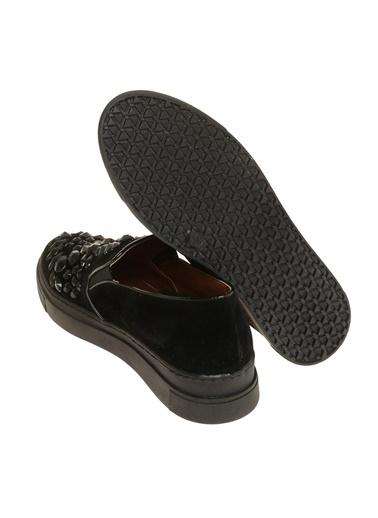 Bambi Bambi Ayakkabı Siyah Düz Ayakkabı 1555 Z K 16 Siyah